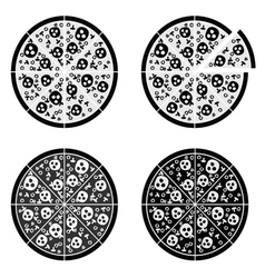 Pizza set italy vector