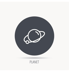 Planet icon world globe sign vector