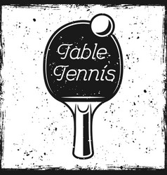 racket and text table tennis vector image