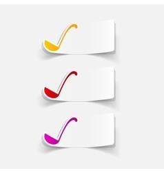 Realistic design element ladle vector