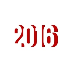 red number 2016 happy new year vector image