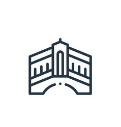 Rialto bridge icon isolated on white background vector