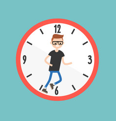 Running out of time conceptual deadline flat vector