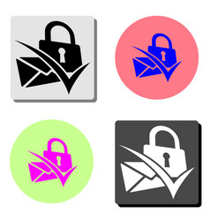secret mail flat icon vector image