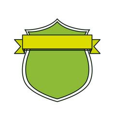 shield with decorative ribbon icon vector image