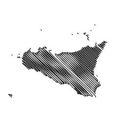 Sicily island map vector