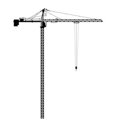 silhouettes of crane on building vector image