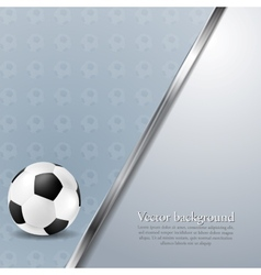 Soccer background with metallic stripe vector