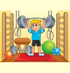 Sport and gym theme 8 vector