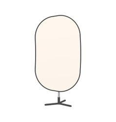 Studio reflector icon cartoon style vector