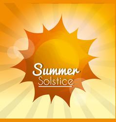 summer solstice vacations vector image