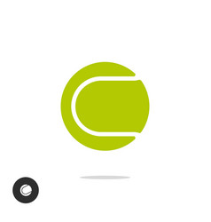 tennis ball icon symbol isolated on white vector image
