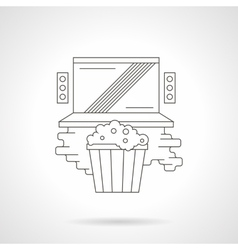 Watching online movie detailed line icon vector image