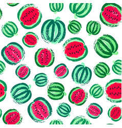 Watermelon background painted pattern vector