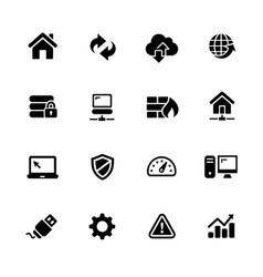 web developer icons vector image vector image