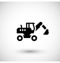 Wheel excavator icon vector image