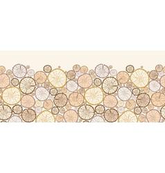 Wood log cuts horizontal seamless pattern vector image