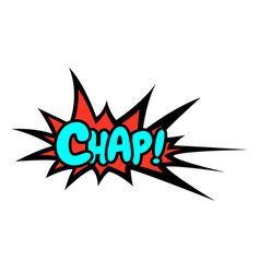 Word text pink chap image vector