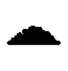 pixelated bush game icon vector image vector image