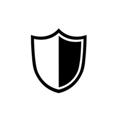 shield icon in flat style security symbol vector image vector image