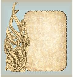 sketch vintage frame design vector image