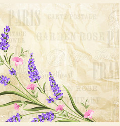 summer flowers garland vector image vector image