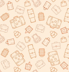Bags and suitcases seamless pattern vector image vector image