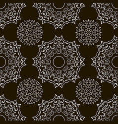 black and white seamless doodle pattern ethnic vector image vector image