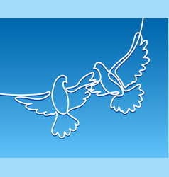Flying two pigeons logo vector