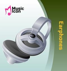 music earphone vector image