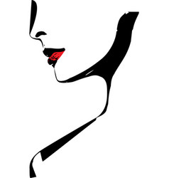 sketch of beautiful woman face vector image vector image