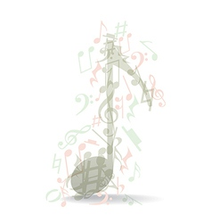 Transparent music note vector image
