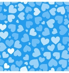 Hearts on blue seamless pattern vector image