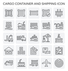 shipping container icon vector image