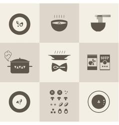 soup icon vector image vector image