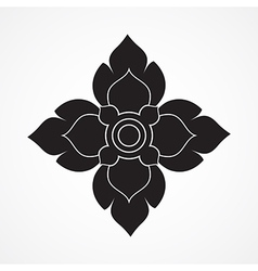 Thai arts ancient decorative element vector image