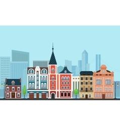 Urban landscape Old buildings vector image