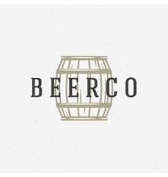 Beer barrel logo or badge design element vector image