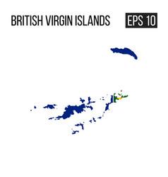 british virgin island map border with flag eps10 vector image