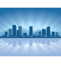 denver skyline with reflection in water vector image