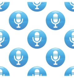 Microphone sign pattern vector image