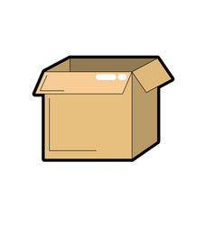 square box package open design vector image vector image