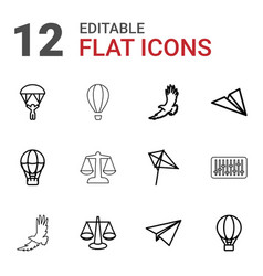 12 freedom icons vector
