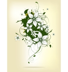Abstract background with floral elements and vector image