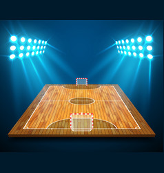 An of hardwood perspective futsal court or field vector