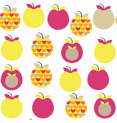apple fruit fantasy seamless pattern it is vector image