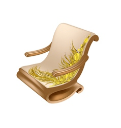 Armchair for reading vector