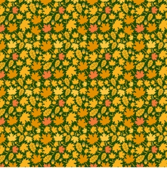 Autumn Yellow Leaf Background Pattern vector image