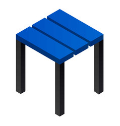 backless chair icon isometric style vector image