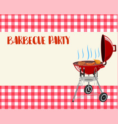 barbecue party blank invitation vector image